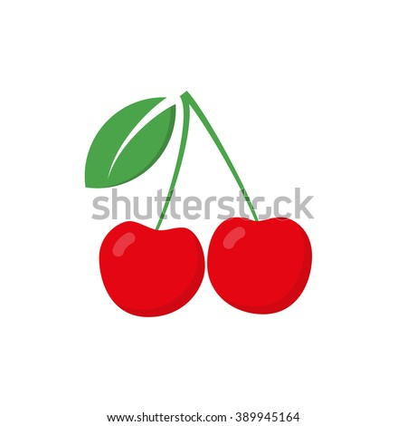 red cherry vector icon cherry