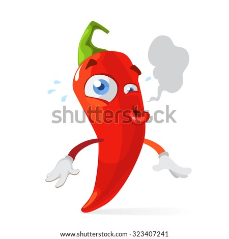 red chilli pepper funny cartoon