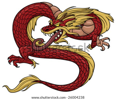 LeeHamazaki's charries Stock-vector-red-chinese-dragon-26004238