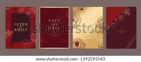 red chinese wedding invitation