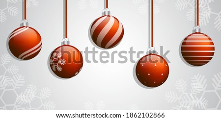 Red Chrismas ball vector set.Red Christmas Ball background.celebration for Chrismas and happy new year