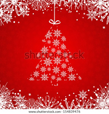 Red Christmas Background. Vector illustration