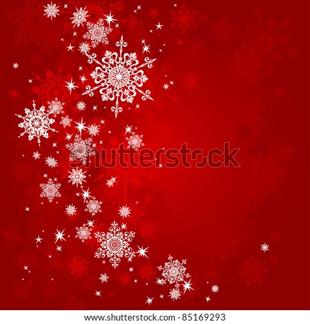 Red Christmas background with space for text