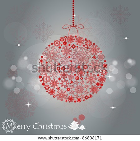 Red Christmas ball illustration.