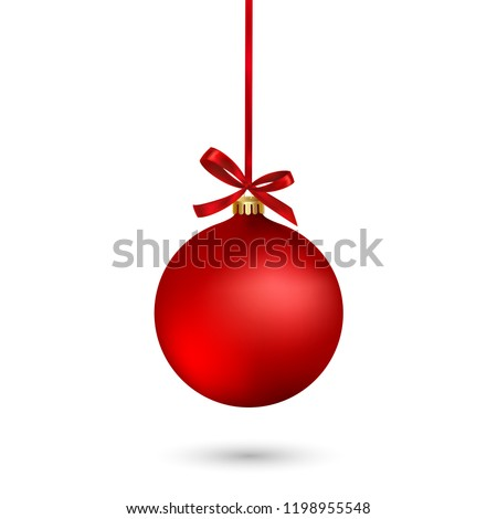 stock-vector-red-christmas-ball-with-ribbon-and-a-bow-on-white-background-vector-illustration