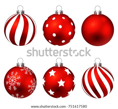 red christmas balls on gift