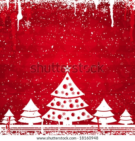 red christmas card, vector illustration
