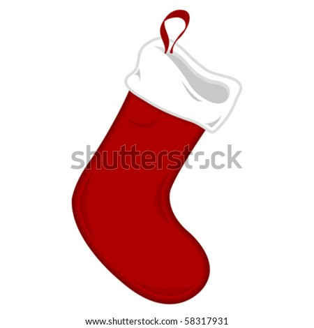 red christmas stocking isolated