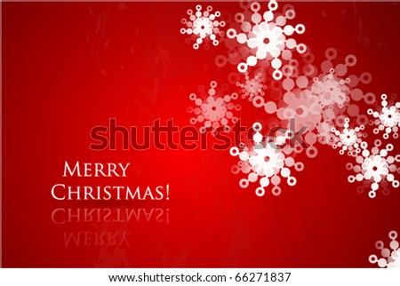 Red Christmas vector abstract background