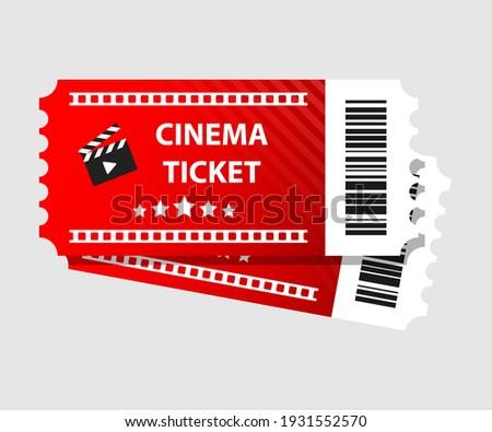 Red cinema tickets illustration Movie tickets