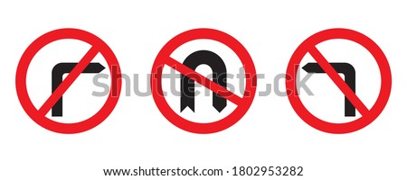 red circle prohibition road