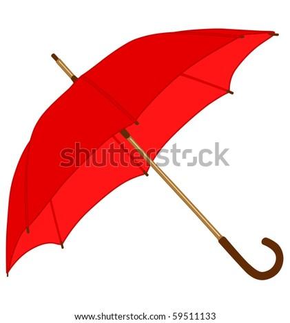 red classic umbrella