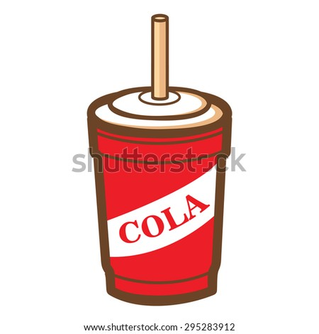 red cola cup icon  vector