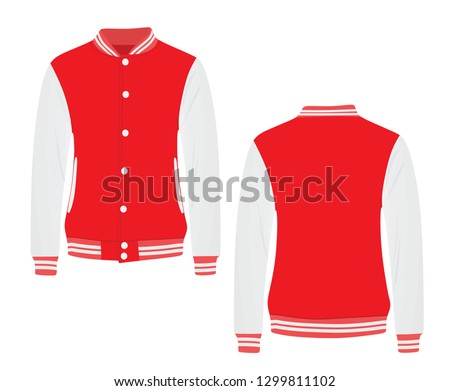 Red college jacket. vector illustration Stock photo ©