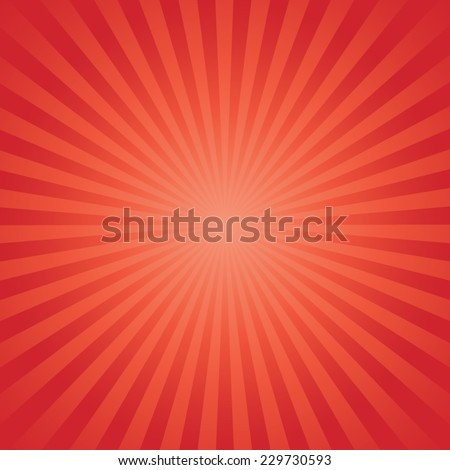 red color burst background. Vector illustration