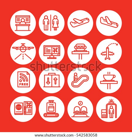 red color set of vector icon