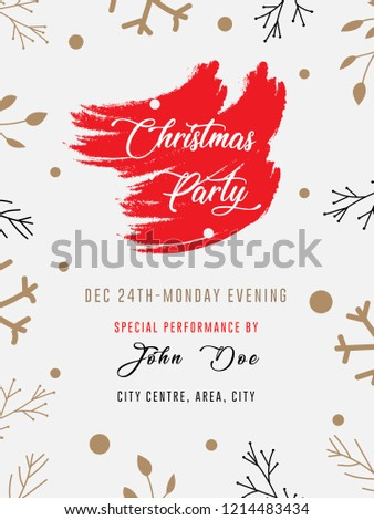 red color theme christmas party