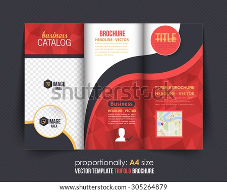 Geoemtric Triangles Business Flyer Brochure Vector Template