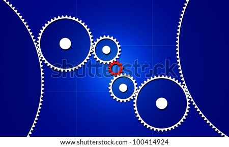 Red connecting gear