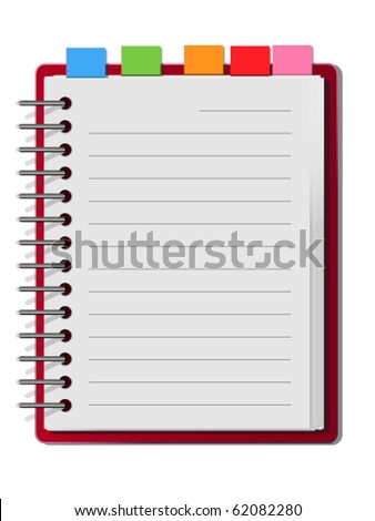 Red cover blank white note book