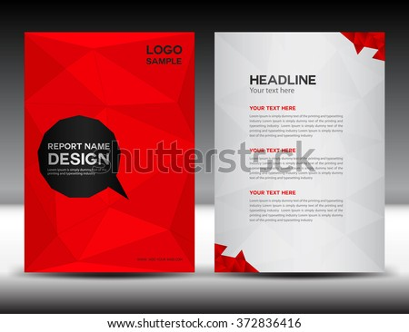 red cover design annual report
