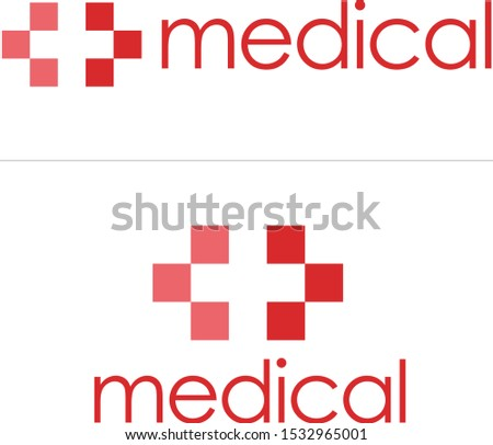 Red cross logo for hospitals, clinics or healthcare