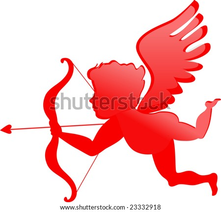 stock vector : red cupid - Valentines day