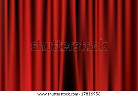 Red curtain of movie stage background
