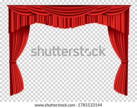 red curtains realistic theater