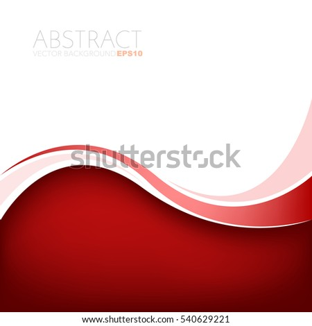 Stock Photo Red curve line vector background with white space for add text and artwork background design