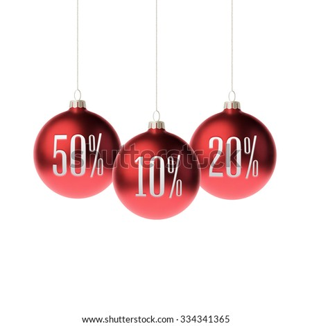 red 3d christmas baubles with