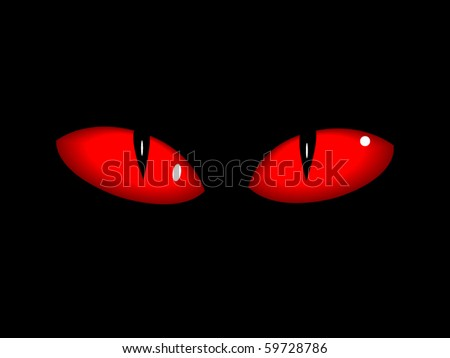 Red dangerous vector eps10 cat eyes halloween theme stock vector
