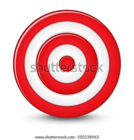 Red darts target aim on white background ストックフォト ©