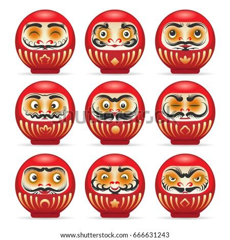 red daruma dolls from japan