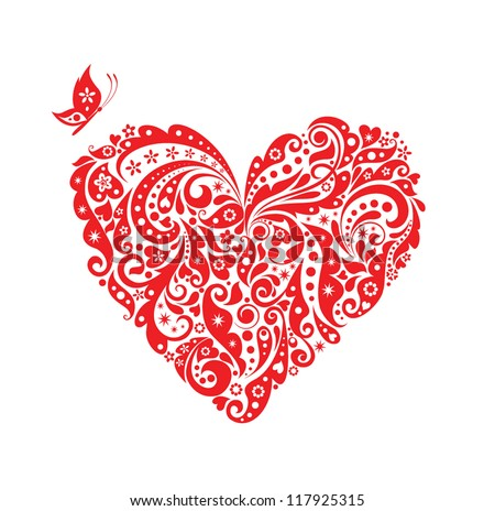 Red decorative heart