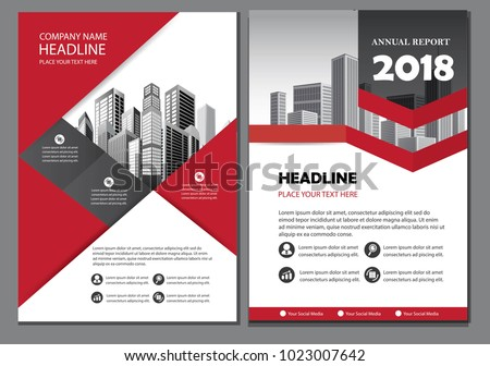 red design brochure business template