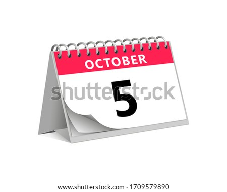red desk paper autumn month of