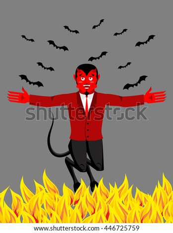 red devil in hell funny demon