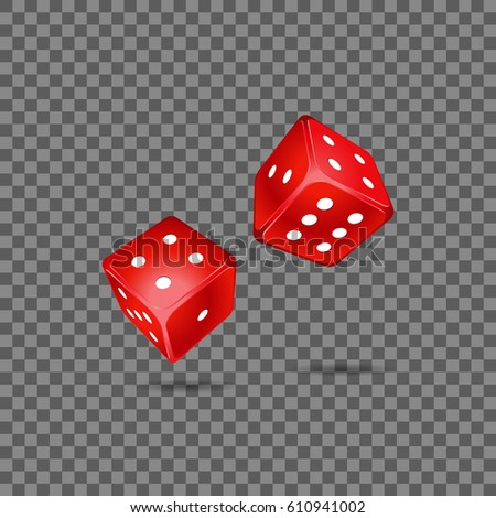 red dice on transparent