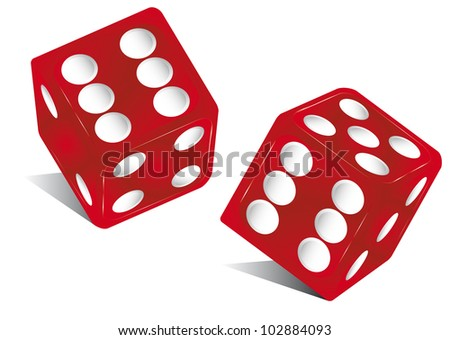 red dice. the die is cast !