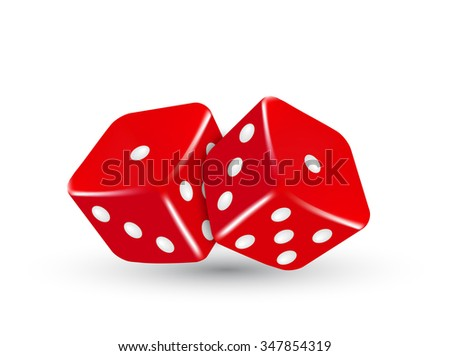 red dice  vector red dice