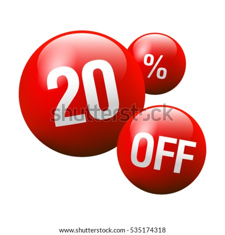 Red Discount Ball - 20% OFF