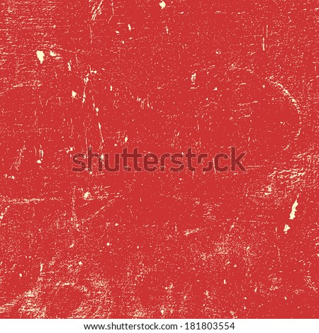 Red Distressed Paint Texture for your design. EPS10 vector.