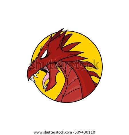 red dragon head vector