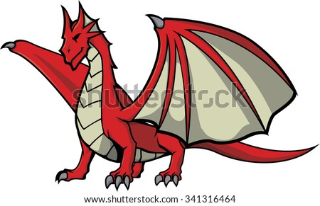 red dragon illustration design