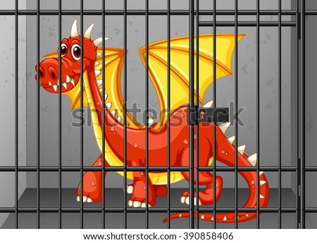 red dragon in the cage