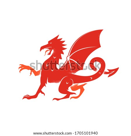 red dragon logo  isolated icon