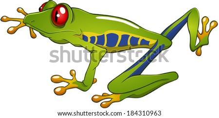 free cartoon green tree frog vector download free vector art rh vecteezy com cartoon green tree frog cartoon red eyed tree frog