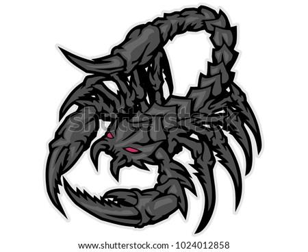 red eyes black scorpion monster