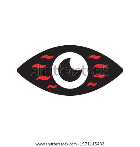 Red eyes. Disorder of eyes, inflamed eyes.